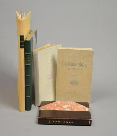 GASTRONOMIE. Ensemble 5 volumes, brochés...