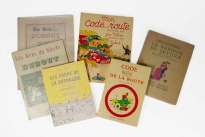 DUBOUT (Albert). Ensemble de 6 volumes illustrés...