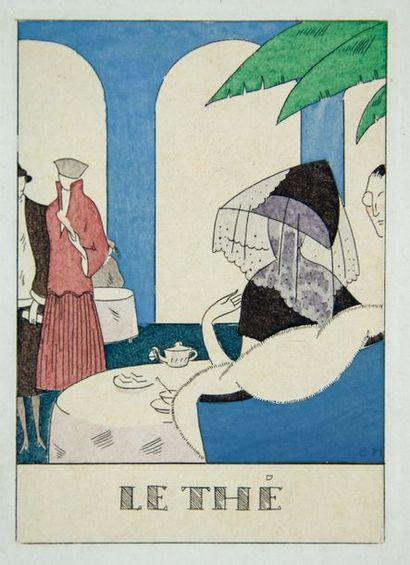 HALOUZE (Edouard). Almanach du Masque d'Or. Deuxième année. 1922. Illustré par Edouard...