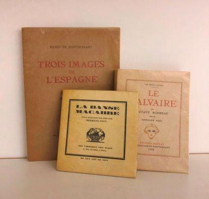 HERMANN-PAUL. Ensemble 3 ouvrages illustrés...