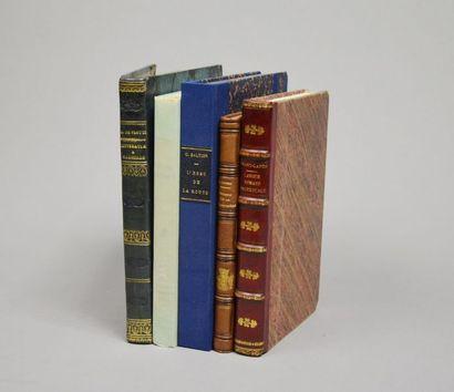 LITTÉRATURE ET LINGUISTIQUE. Ensemble 5 ouvrages....