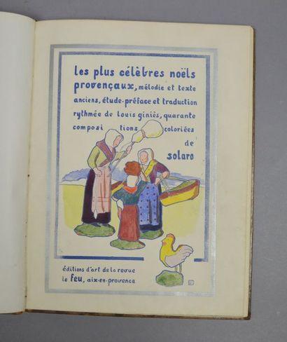 NOËLS PROVENÇAUX (Les plus célèbres). Mélodie et texte anciens, étude-préface et...