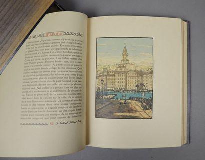 SUARÈS (André). Marsiho. Paris, Trémois, 1931. In-4, maroquin bleu nuit, double...