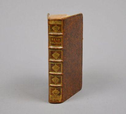 BOUHOURS & [VILLARD (l'abbé de)]. De la délicatesse. Paris, Claude Barbin, 1671....
