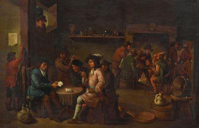 Ecole Flamande du XIXème siècle, dans le...