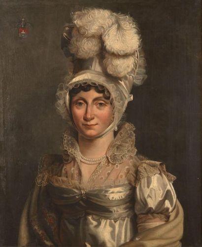 Ecole FRANCAISE vers 1860 Portrait de Angèle...