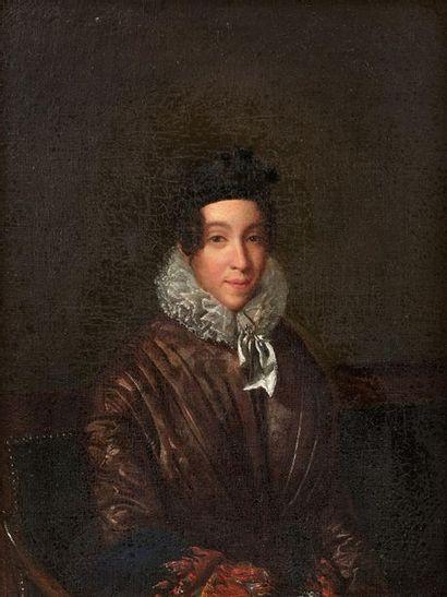 Ecole FRANCAISE vers 1830 Portrait de femme...