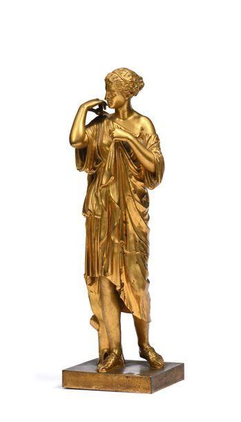 Diane de Gabies Statuette den bronze ciselé...