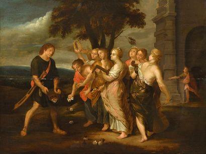 Ecole FLAMANDE du XVIIème siècle, suiveur de Pierre Paul RUBENS Le retour de David...