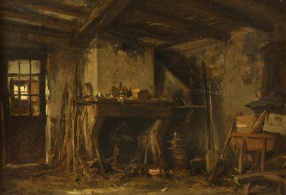 Auguste Alfred RUBE (Paris 1815 - 1899) L'intérieur...