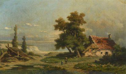 Alexis de FONTENAY (Paris 1813 - 1892) Chaumière...