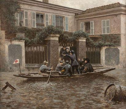 Jules DIDIER (Paris 1831 – 1892) Les inondations...