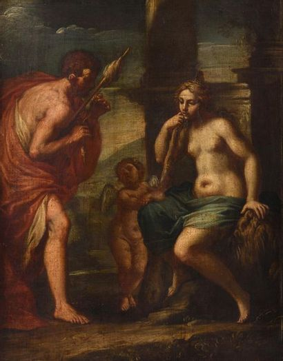 Ecole ITALIENNE du XVIIIème siècle Hercule...