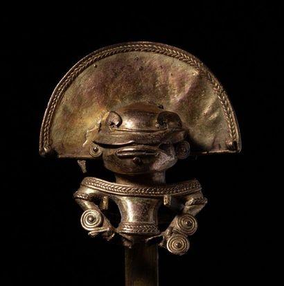 Pendentif présentant un buste chamanique,...