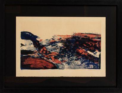 Zao WOU-KI (1921-2013) A la gloire de l'image et art poétique, 1976 Lithographie...