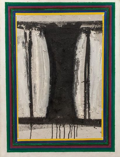John Harisson LEVEE (1924-2017) April II, 1964 Huile sur toile signée et datée en...