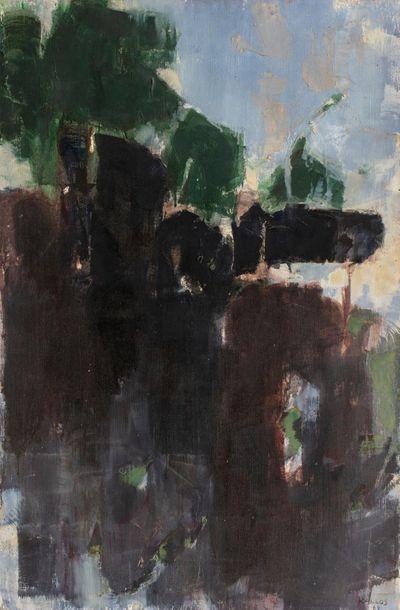 Paul KALLOS (1928-2001) Composition, 1969 Huile sur toile signée et datée en bas...