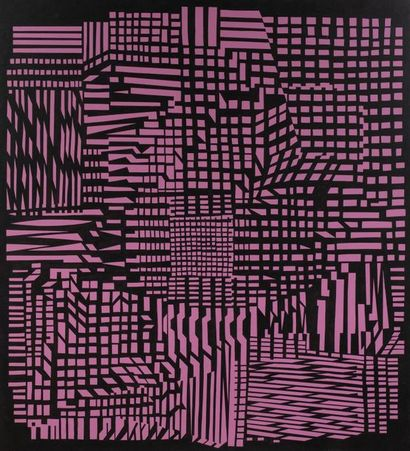Victor VASARELY (1906-1997) Range, 1951/1966-1988...