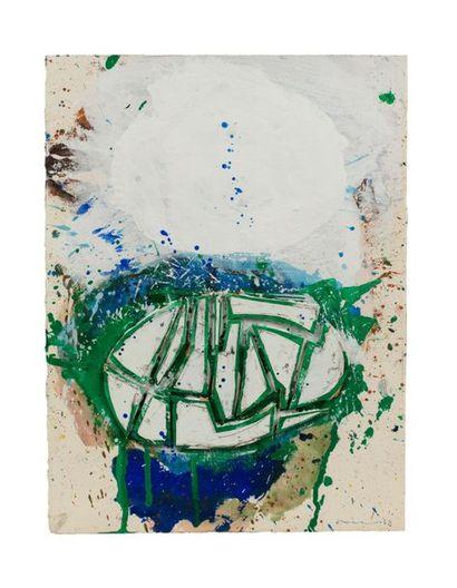 John Harisson LEVEE (1924-2017) Composition, 1963 Acrylique et collage sur papier...