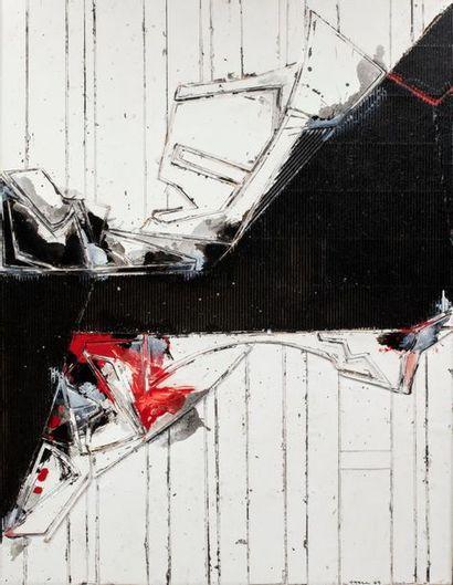 John Harisson LEVEE (1924-2017) Composition, 2005 Acrylique et collage sur carton...