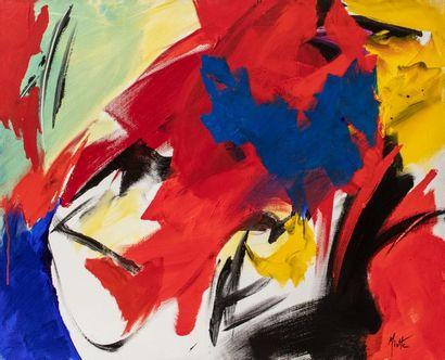 Jean MIOTTE (1926-2016) Sans titre, circa 1995-1999 Acrylique sur toile signée en...