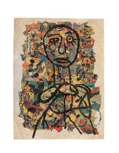 Gaston CHAISSAC (1910-1964) Sans titre, 1956...