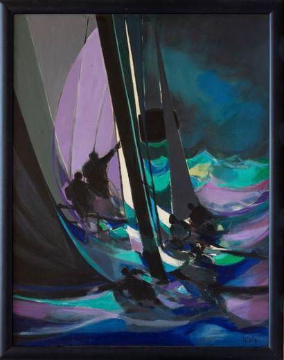 Marcel MOULY (1918 - 2008) Les Yachtmen de...