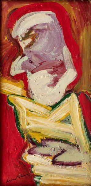 Bengt LINDSTRÖM (1925-2008) Sans titre, 1958 Huile sur toile signée en bas à gauche...