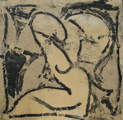 Pierre ALECHINSKY (né en 1927) Noir sur Blanc,...