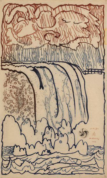 Pierre ALECHINSKY (né en 1927) Garde fou,...