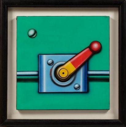 Peter KLASEN (né en 1935) Manette/fond vert,...