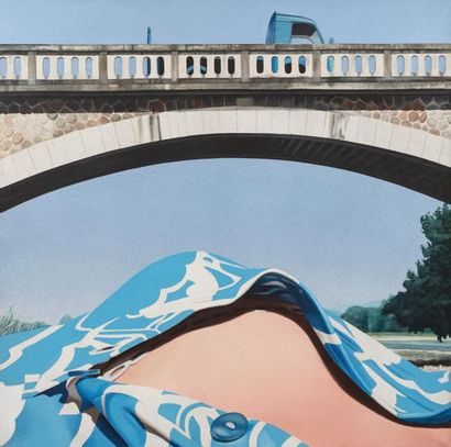 Gérard SCHLOSSER (né en 1931) Il est gentil Alain ?, 1973 Acrylique sur toile sablée...
