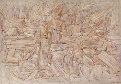 Roger-Edgar GILLET (1924-2004) Sans titre, 1960 Huile sur panneau signé et daté...