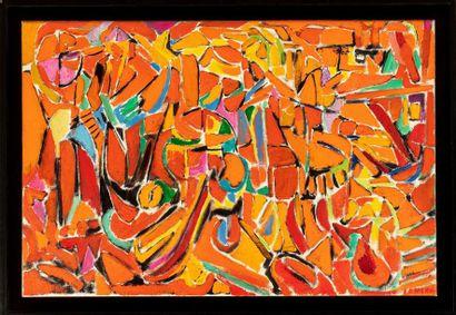 André LANSKOY (1902-1976) Composition orange,...