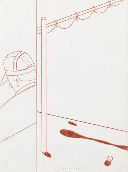Edouardo ARROYO (1937-2018) Sans titre, 1984...