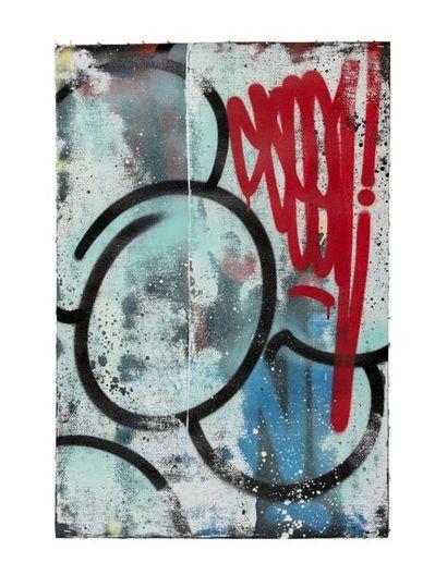 SEEN (né en 1961) Classic bubble blue, 2018 Acrylique sur toile signée et datée...