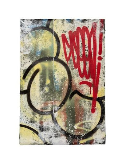SEEN (né en 1961) Classic bubble yellow,...
