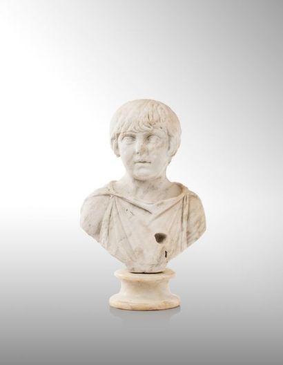 ƒ Buste drapé du Prince Annius Vérus, 162...