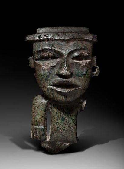 Important buste d'idole présentant un seigneur...