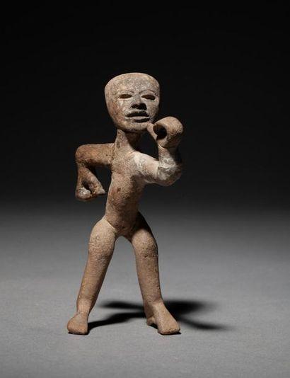 Rare et belle figure anthropomorphe présentant...