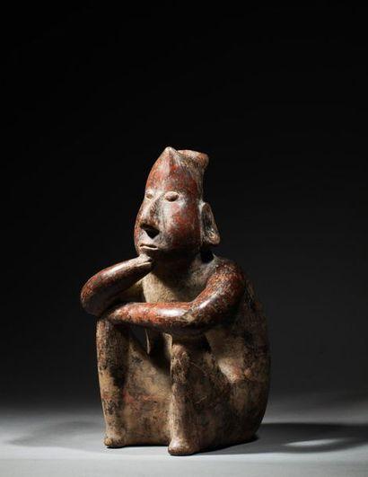 Statue anthropomorphe, elle est modelée d'un...