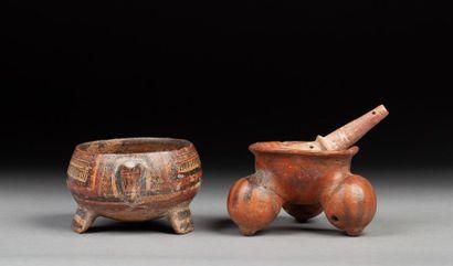 Ensemble vases aviformes et vase tripode...