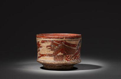 Vase peint sur les parois externes d'une...