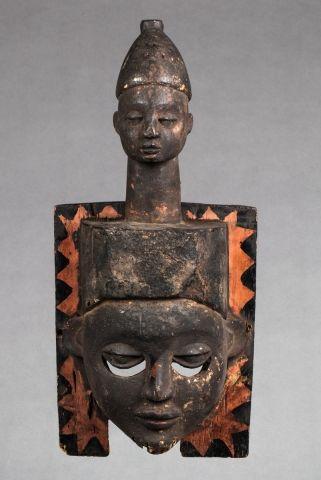 Masque de case cérémonielle ou de danse,...