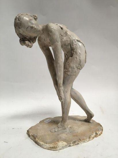 Armel BEAUFILS (1882 - 1952), attribué à La danseuse Sculpture en plâtre H. 33 ...
