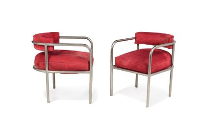 René HERBST (1891 - 1982) Paire de fauteuils...