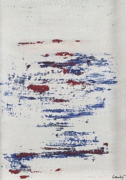 René LAUBIES (1924-2006)  Composition abstraite...