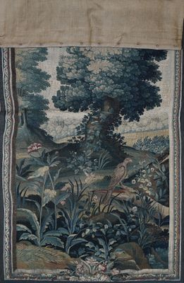 Tapisserie en laine représentant une verdure...