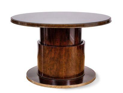 TRAVAIL ART DECO Table basse circulaire en...