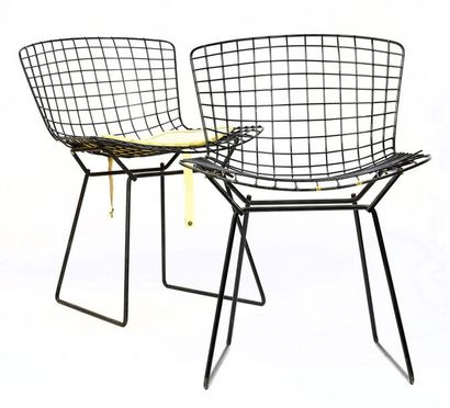 Harry BERTOÏA (1915 - 1978) Paire de chaises...
